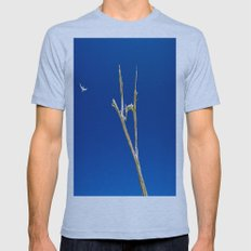 Soaring High in Blue Skies Mens Fitted Tee Athletic Blue SMALL