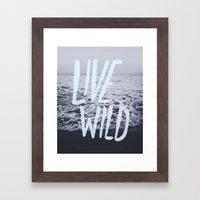 Live Wild: Ocean Framed Art Print