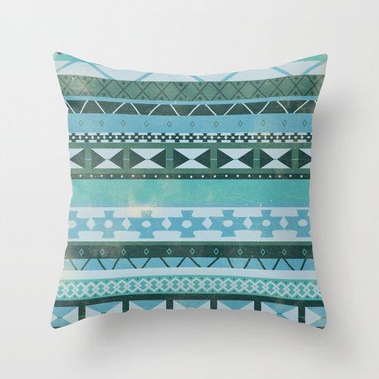 Native Spirit (cool version) Throw Pillow