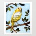 Songbird 3 ... Collage Bird Art Art Print