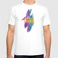 Art Is Hard - Fish Mens Fitted Tee White SMALL