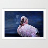 Pretty Flamingo Art Print