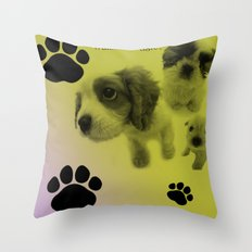 Puppy Snuggle Pillow Throw Pillow