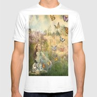 Release Of The Butterfli… Mens Fitted Tee White SMALL