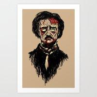 Edgar Allan Poe Zombie Art Print
