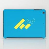 I Like You Graphik: Yellow Type iPad Case