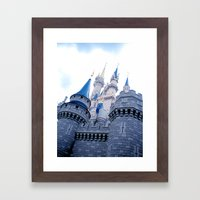 Disney Castle In Color Framed Art Print