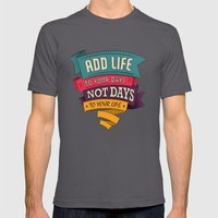 Life Mens Fitted Tee Asphalt SMALL