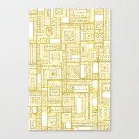 Golden Doodle patchwork Canvas Print