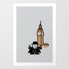 P for Pixel Art Print