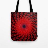 Red Space Spiral Fractal  Tote Bag