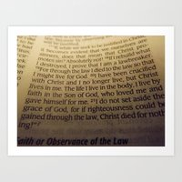Through the Law. Art Print