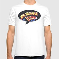 Big Trouble In Little Ch… Mens Fitted Tee White SMALL