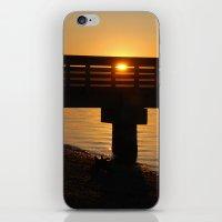 Dock at sunset iPhone & iPod Skin