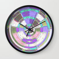 Glass Block Abstract Wall Clock