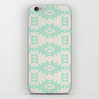 Mint Geo iPhone & iPod Skin