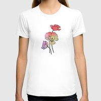Three Poppies Womens Fitted Tee White SMALL