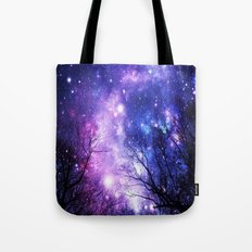 Black Trees Purple Blue … Tote Bag