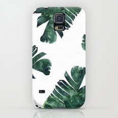 Banana Leaf Watercolor Pattern #society6 Galaxy S5 Slim Case