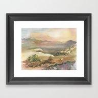 Berrenda Ranch Light Framed Art Print