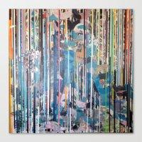 RIPPED STRIPES Canvas Print