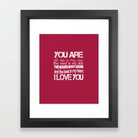 You Are My Valentine Framed Art Print