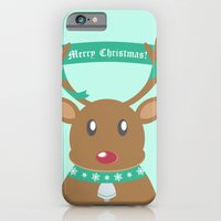 iPhone & iPod Case featuring Christmas Reindeer by designbyash