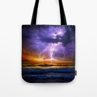 Illusionary Lightning Tote Bag