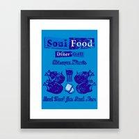 Soul Food For Soul Men Framed Art Print