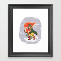 The Detective and the Fox Framed Art Print