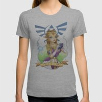 Tattooed Zelda Womens Fitted Tee Athletic Grey SMALL