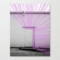 White Door, Fuchsia Prism Canvas Print