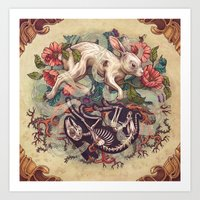 Dust Bunny Art Print