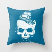 Sailing the Dead Sea Throw Pillow