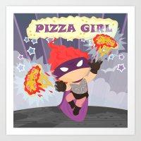 Pizzagirl Art Print