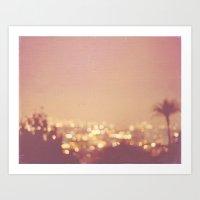 Summer Nights. Los Angeles at night photograph. Art Print