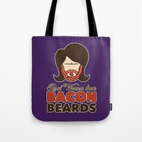 Bacon Beard (women's version) Tote Bag