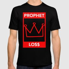 P&Ls - King Red Mens Fitted Tee Black SMALL