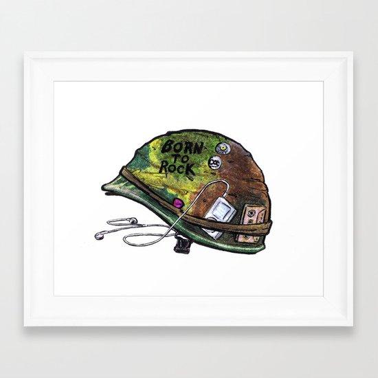 """Born to Rock"" by Cap Blackard Framed Art Print"