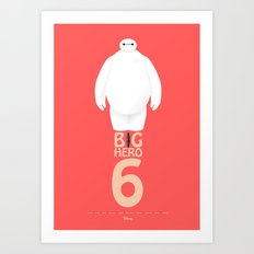 Big Hero 6 - minimal poster Art Print
