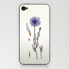 blue cornflower and knife iPhone & iPod Skin