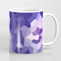 abstract floral in blue and purple shades Mug