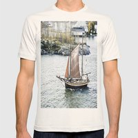 Treasure Bound!! Mens Fitted Tee Natural SMALL