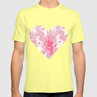 Unicorn Love Finds You Mens Fitted Tee Lemon SMALL