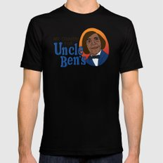 NO COUNTRY FOR UNCLE BEN'S SMALL Mens Fitted Tee Black