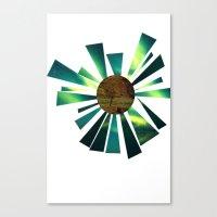 Canvas Print featuring Hello Earth by Alicia Ortiz