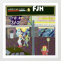 FJH ✮ Streets Of Cuzzy… Art Print