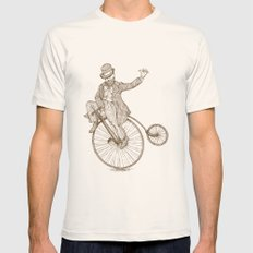Flatland Penny Farthing Mens Fitted Tee Natural SMALL