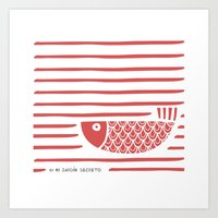 PIXE 2 (light Red) Art Print