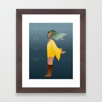 Go with the flow Framed Art Print